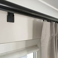 Black curtain rod