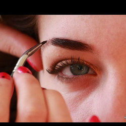 Filling in brows since ages ago! This shot if I remember correctly was taken at a shoot that I put t