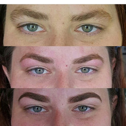 -Before -Shaped, waxed and tinted_-Filled in_Spent today making 6 lovely ladies brows the perfect sh