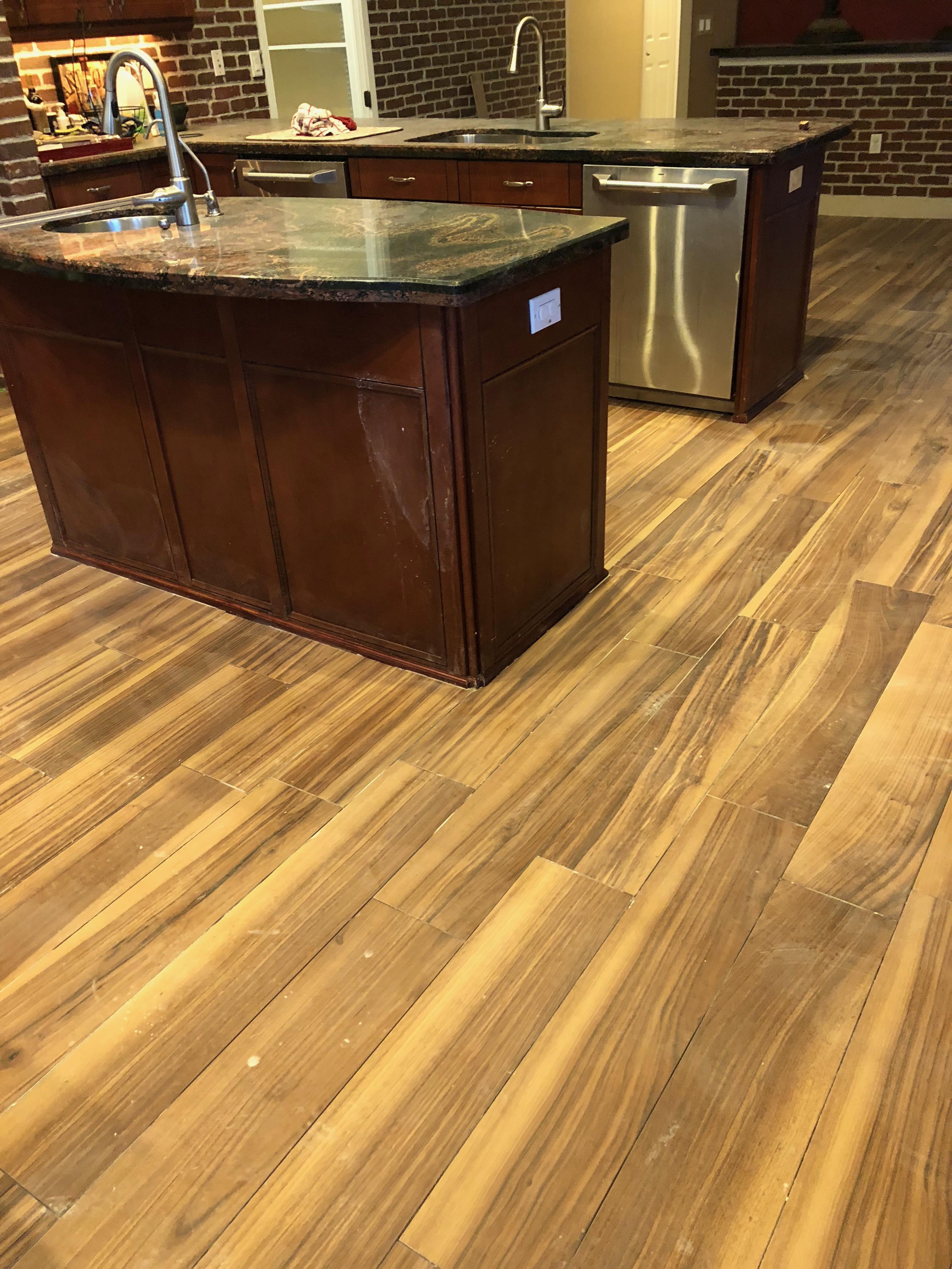 Wood Plank Tile Installation
