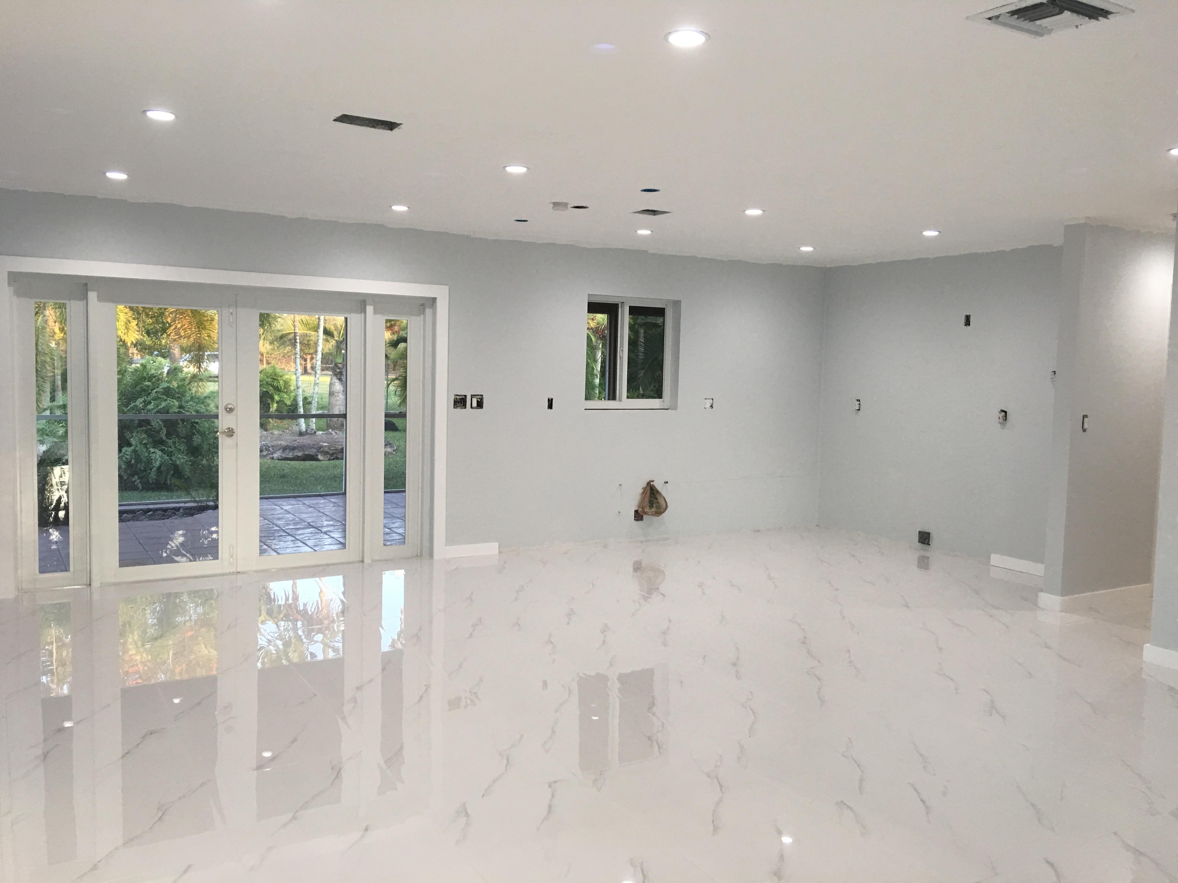 Porcelain tile Installation