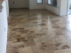 travertine tile installation