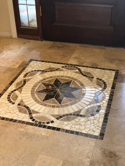 Travertine Medallion Installation