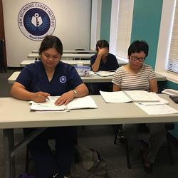 Our pharmacy technician students studyin