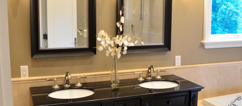 Dark Brown Double Sink Vanity