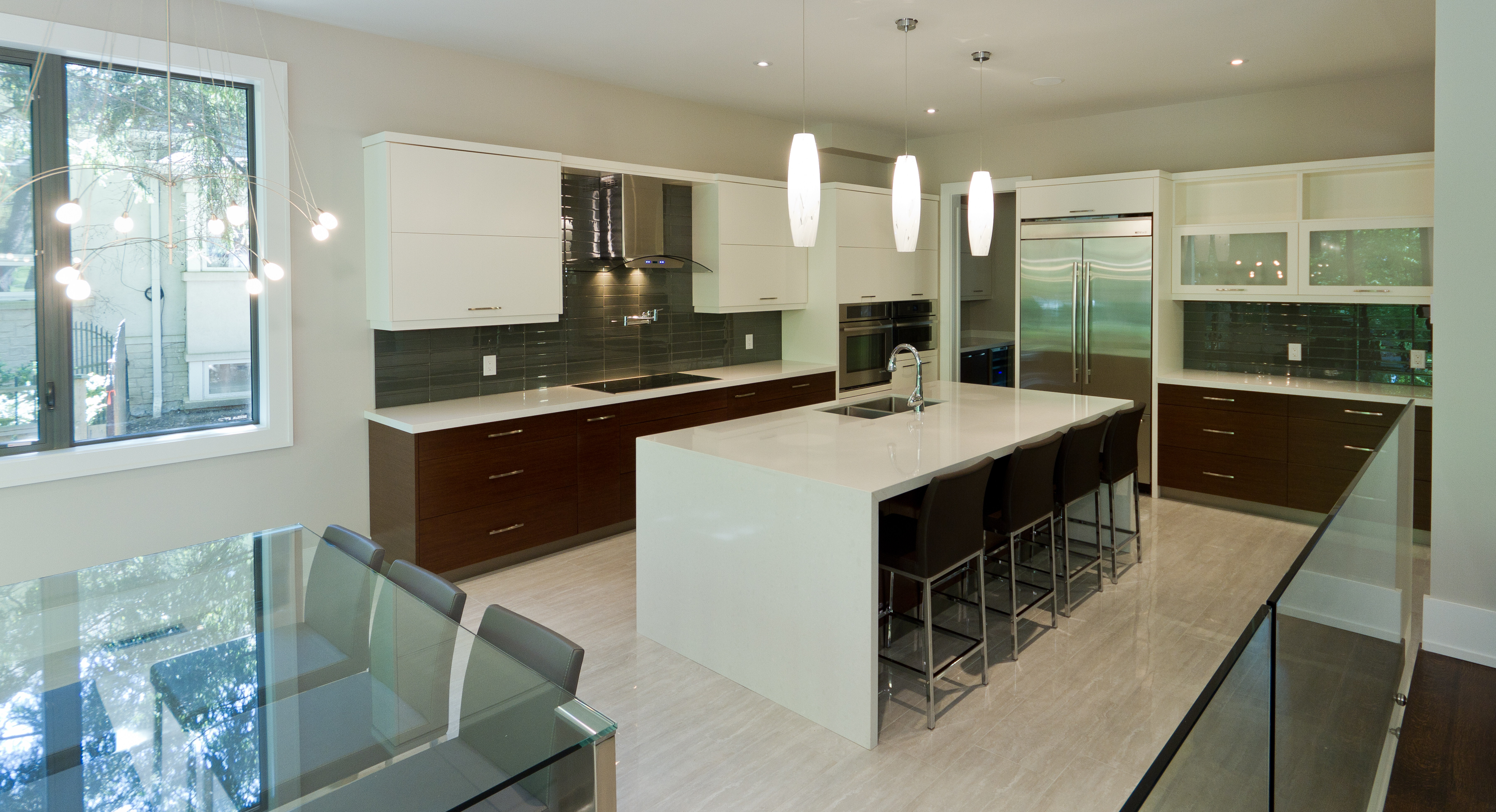 Modern Kitchen with Waterfall Island