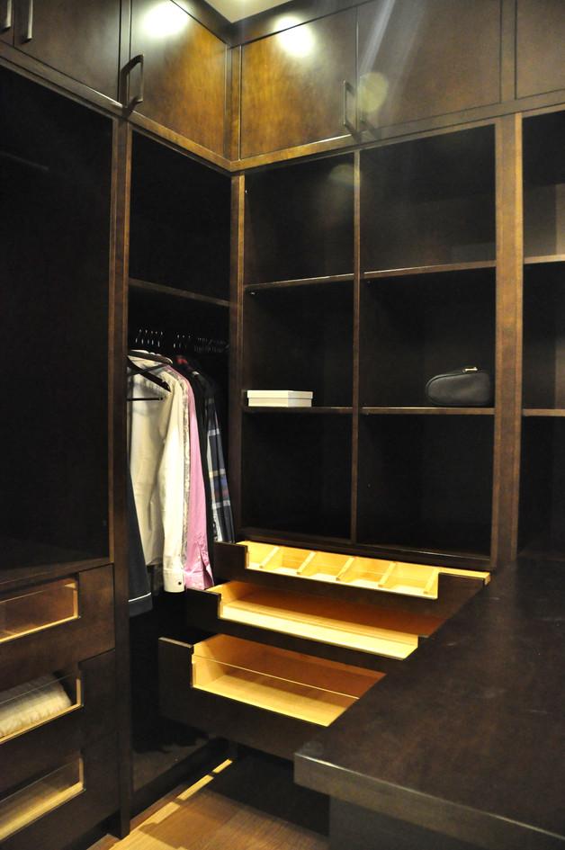 Dark Brown Walk in Closet
