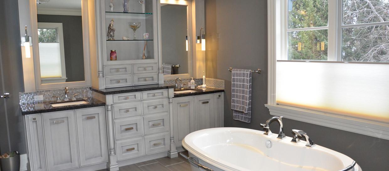Double Sink Grey Vanity