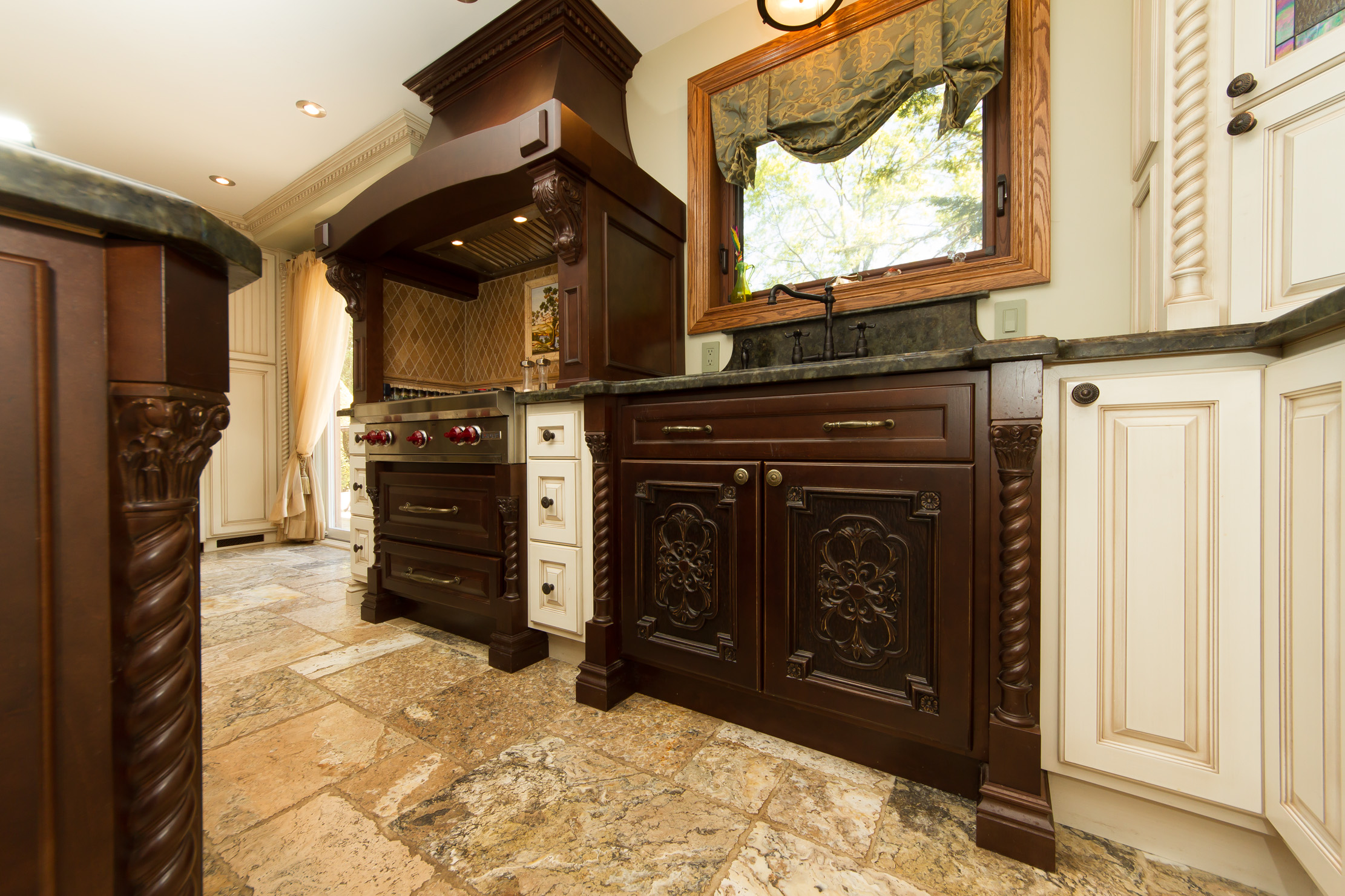 Custom Two Toned Traditional Kitchen