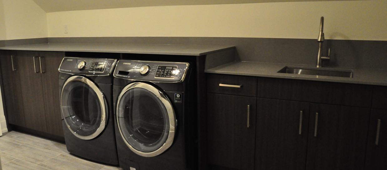 Dark Grey Laundry Room
