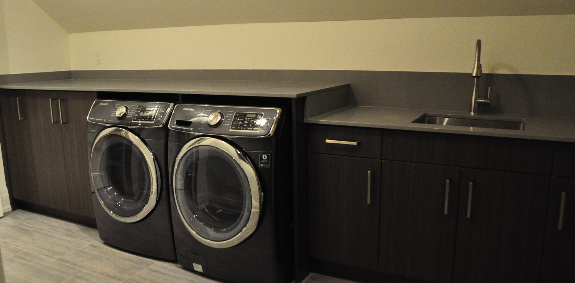 Dark Grey Laundry Room
