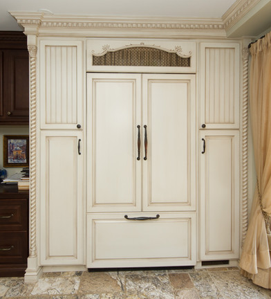 White Wall Unit Traditional Style