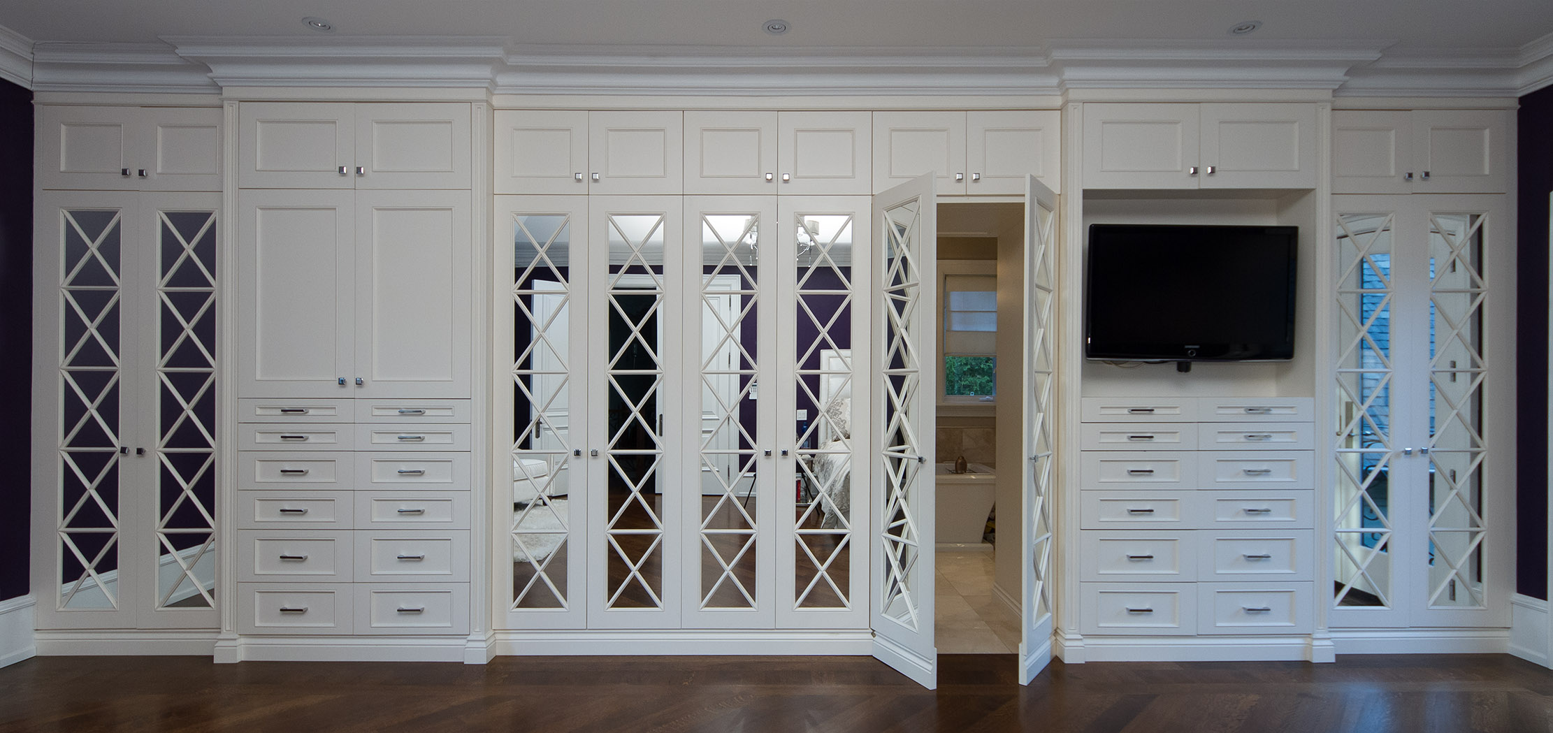 Custom Closet with Mirror doors