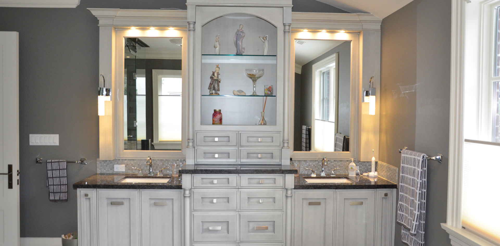 Large Grey Bathroom Vanity