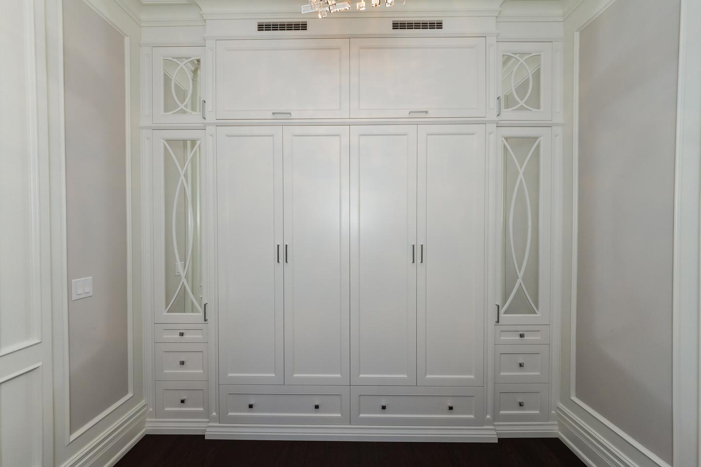 White Wall Unit closet