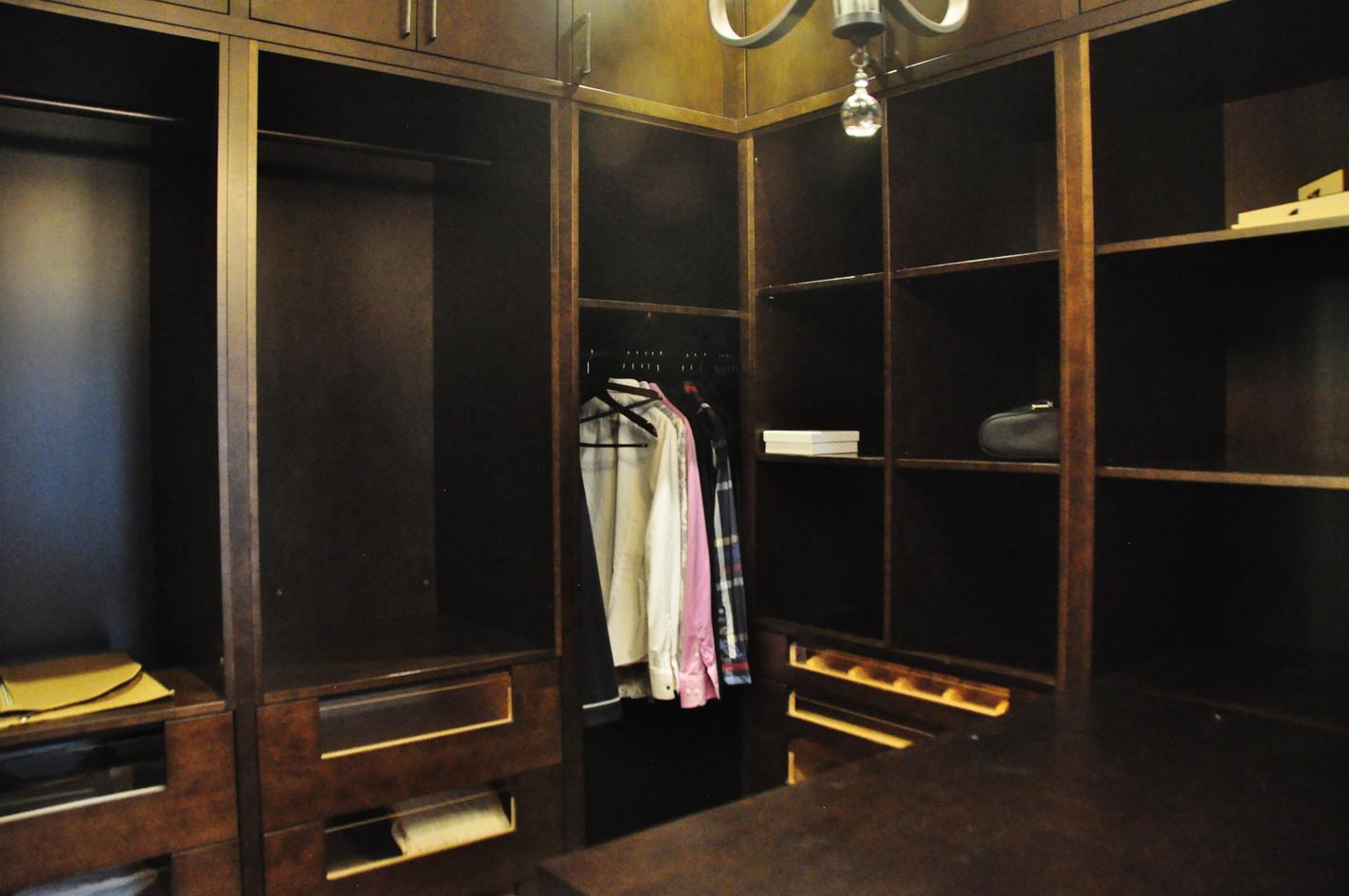 Large Dark Brown Closet