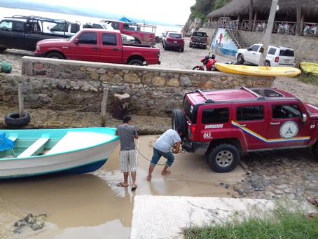 Corte operativo Huracán WILLA categoría 4 que se localiza frente a las costas de Jalisco