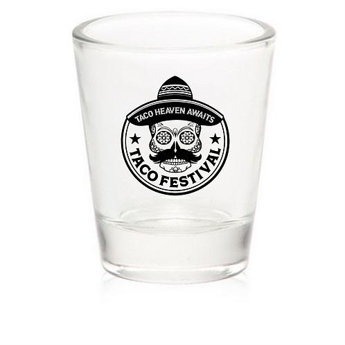 Taco Logo Shot Glass