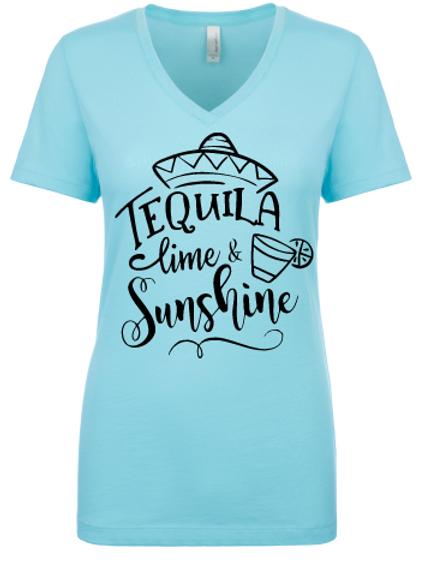 Tequila Lime & Sunshine Ladies V-Neck