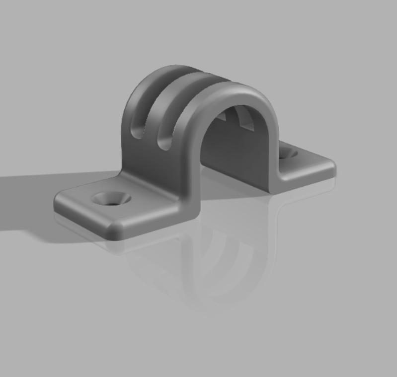 3D print prijemke za inštalacijsko cev