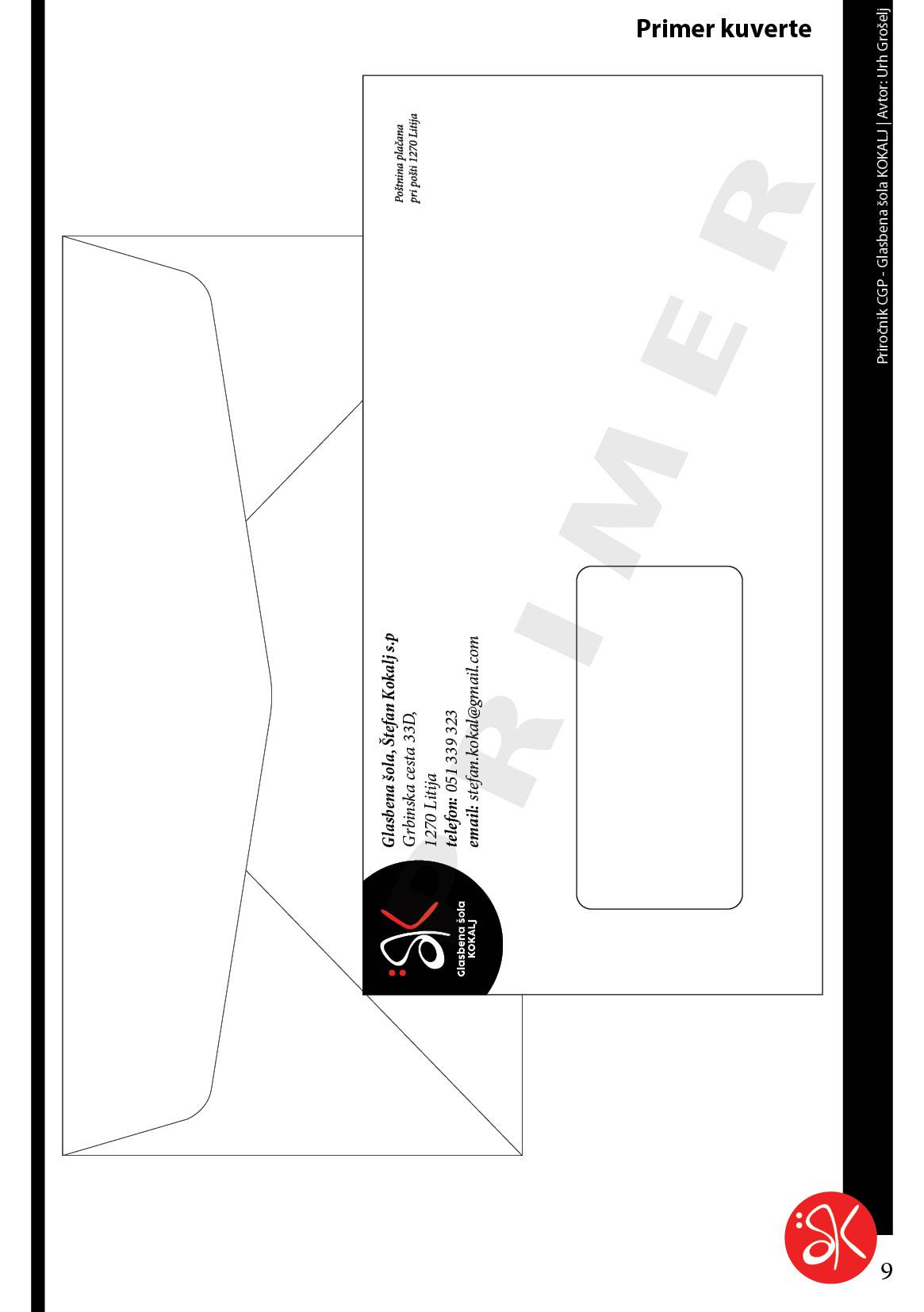 CGP primer kuverte