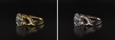 Fotorealistična vizualizacija prstana iz 24 karatnega zlata