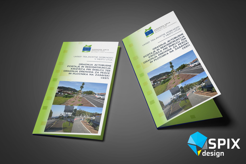 Oblikovanje brošure Litija trajnostna mobilnost 2019