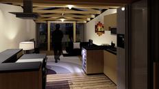 3D render notranjosti prostorov