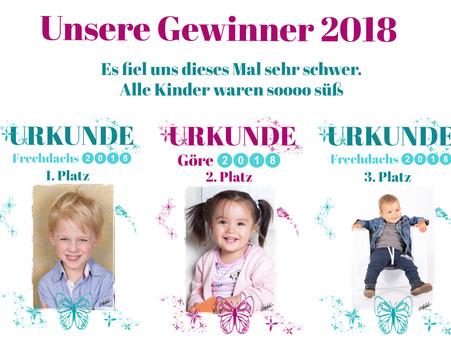 Herzlichen Glückwunsch unseren 3 Gewinnern des Göre - Frechdachs Wettbewerb 2018!!!