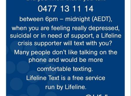 Lifeline Text 0477 13 11 14