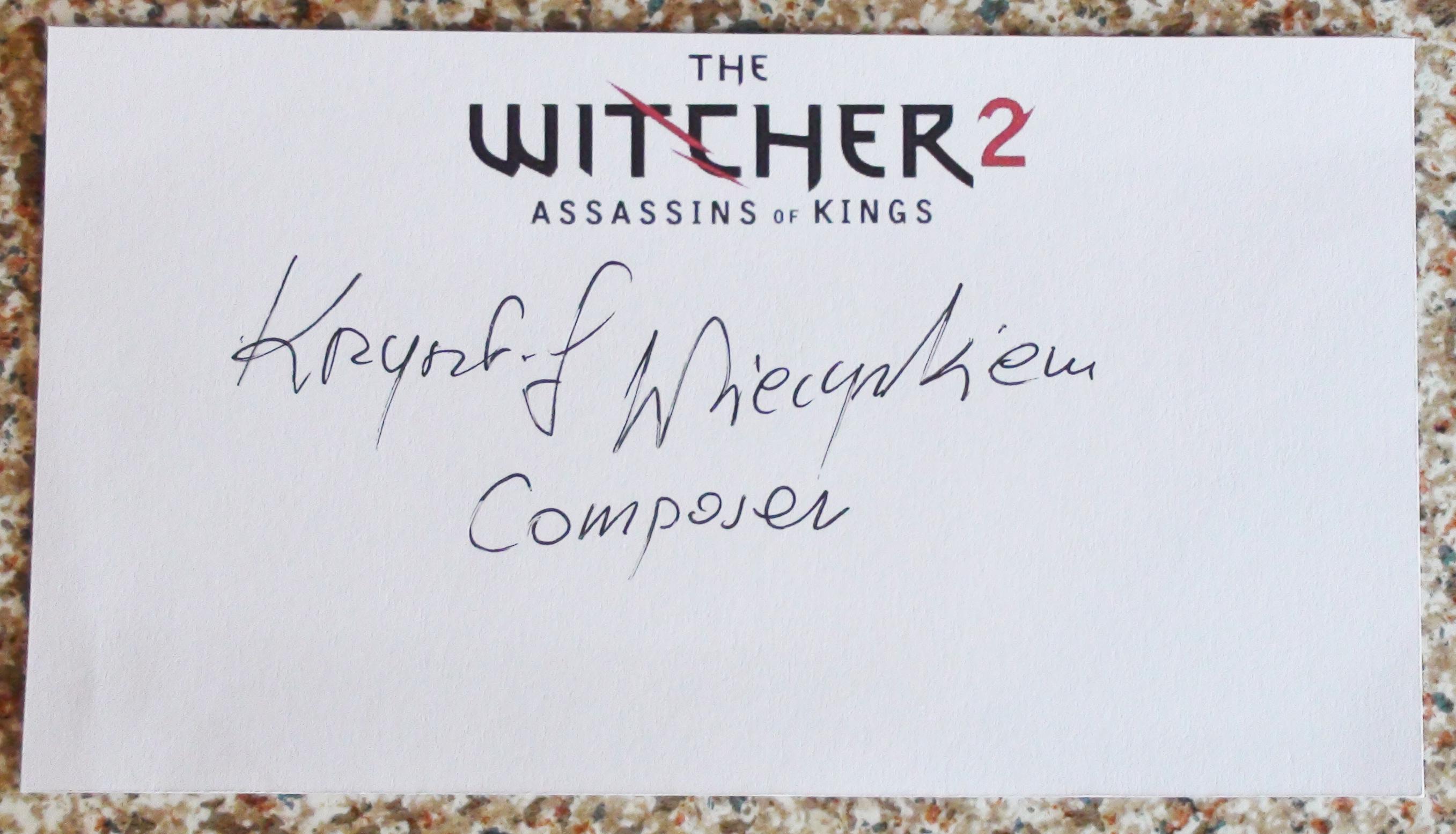 Witcher 2 - Krzysztof Wierzynkiewicz