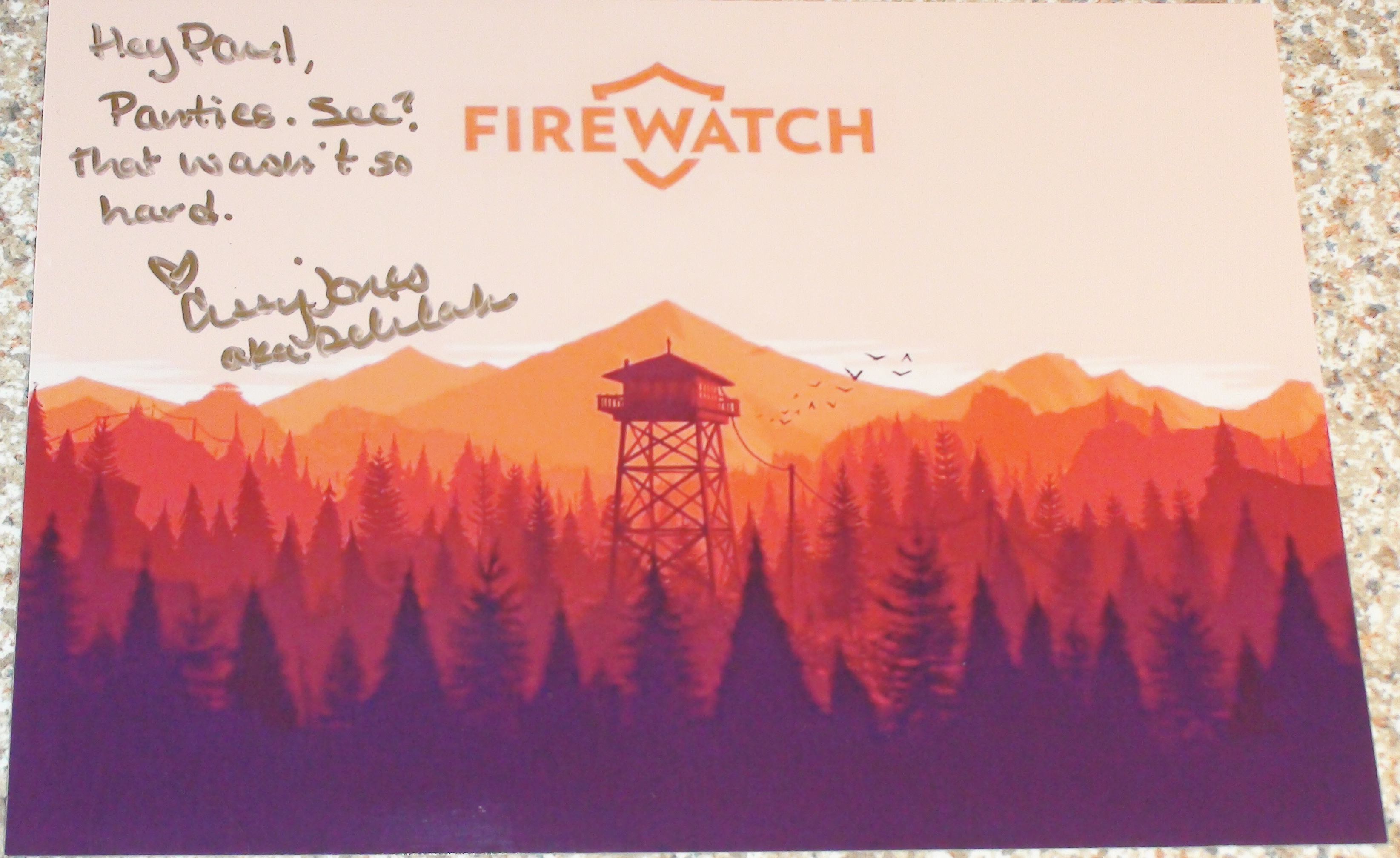 Firewatch - Cissy Jones