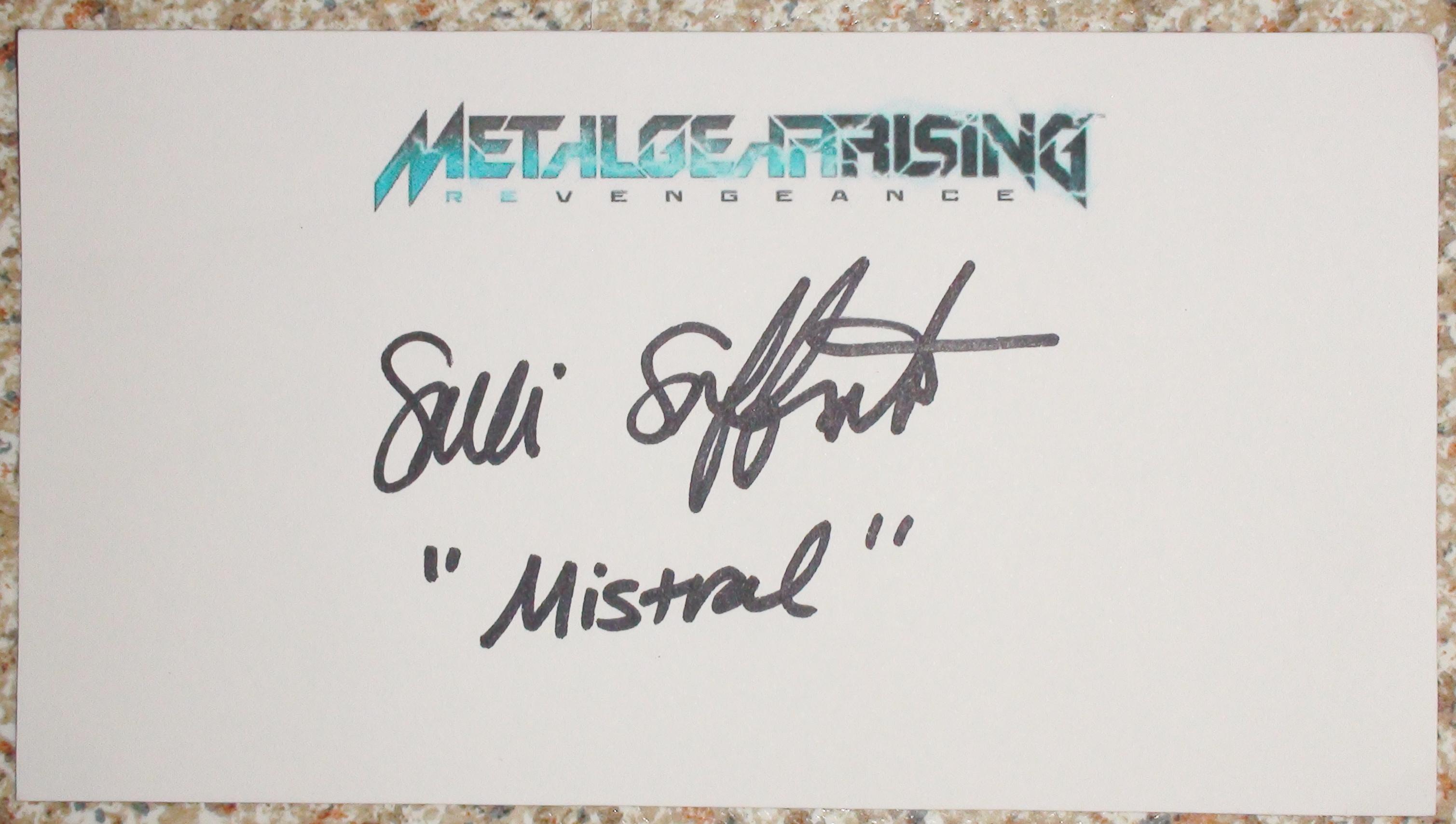 Metal Gear Rising - Salli Saffioti