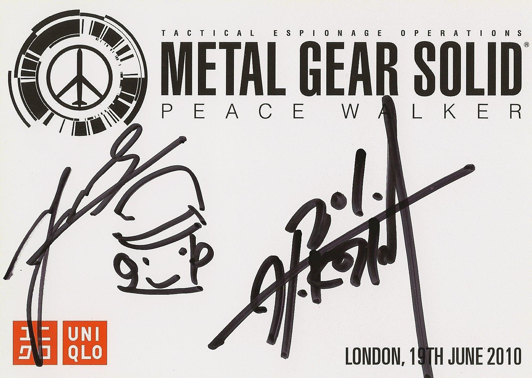 MGS Peace Walker - Kojima / Shinkawa