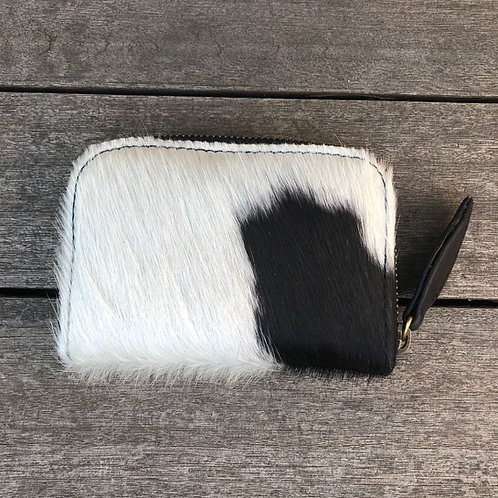 Hide Mini Zip Round Wallet