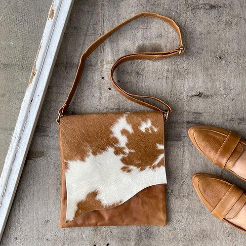 Hide and Stitch Raw Flap Bag