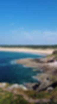 La plage de l'Anse du Croc vu de la pointe aux chèvres