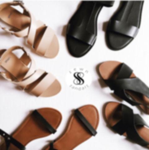 sewn sandals