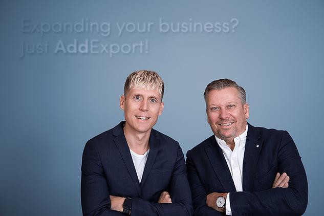 Markus Ryberg och Magnus Haugerud, gundarna av AddExport Sweden AB