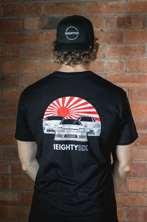 Classic Rising Sun T-Shirt   Unisex   Black
