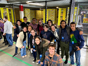 At the Amazon 8th gen fulfilment center, students could understand the technology and robots behind the efficiency of the online retailer