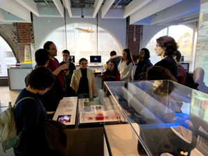 At the Autodesk Gallery, students experienced how many new products are developed by using CAD/CAM software