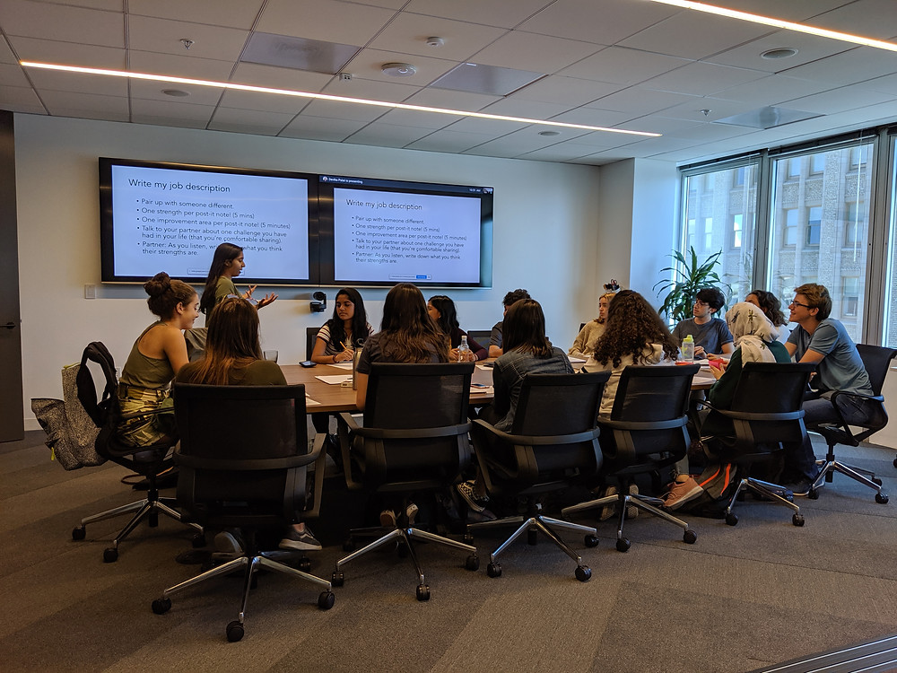 Devika Patel, Director of Design at Zuckerberg's General Better Lab, works with students so they can find out what they want to do