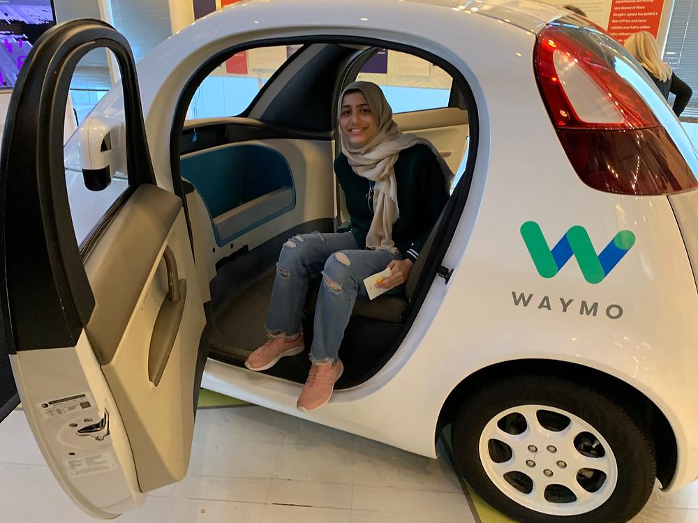 Inside Google Autonomous Car prototype in the Computer History Museum