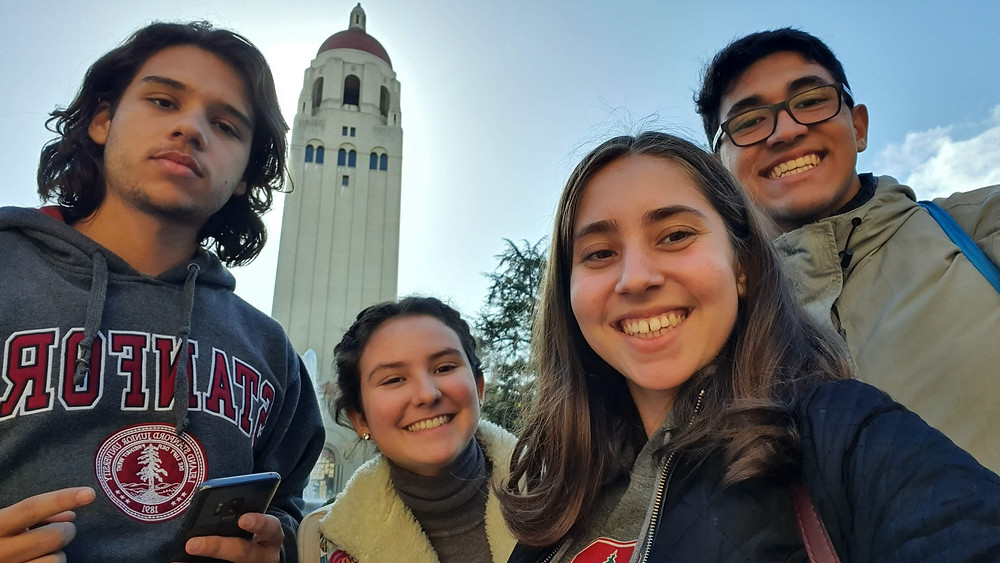 Students toured the Stanford Campus after a closed door admissions presentation