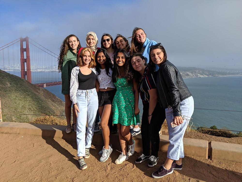 Commemorating Vrinda's Birthday at the Golden Gate Bridge Vista Point
