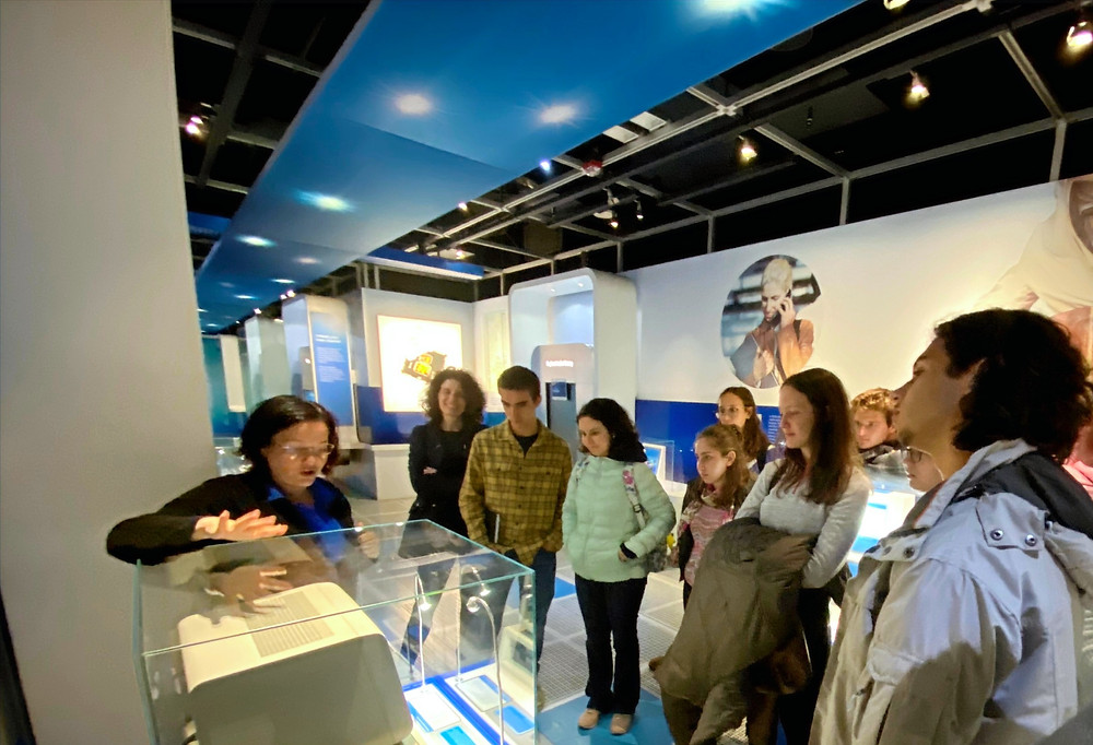 Students get to know an ancient artefact called an IBM PC