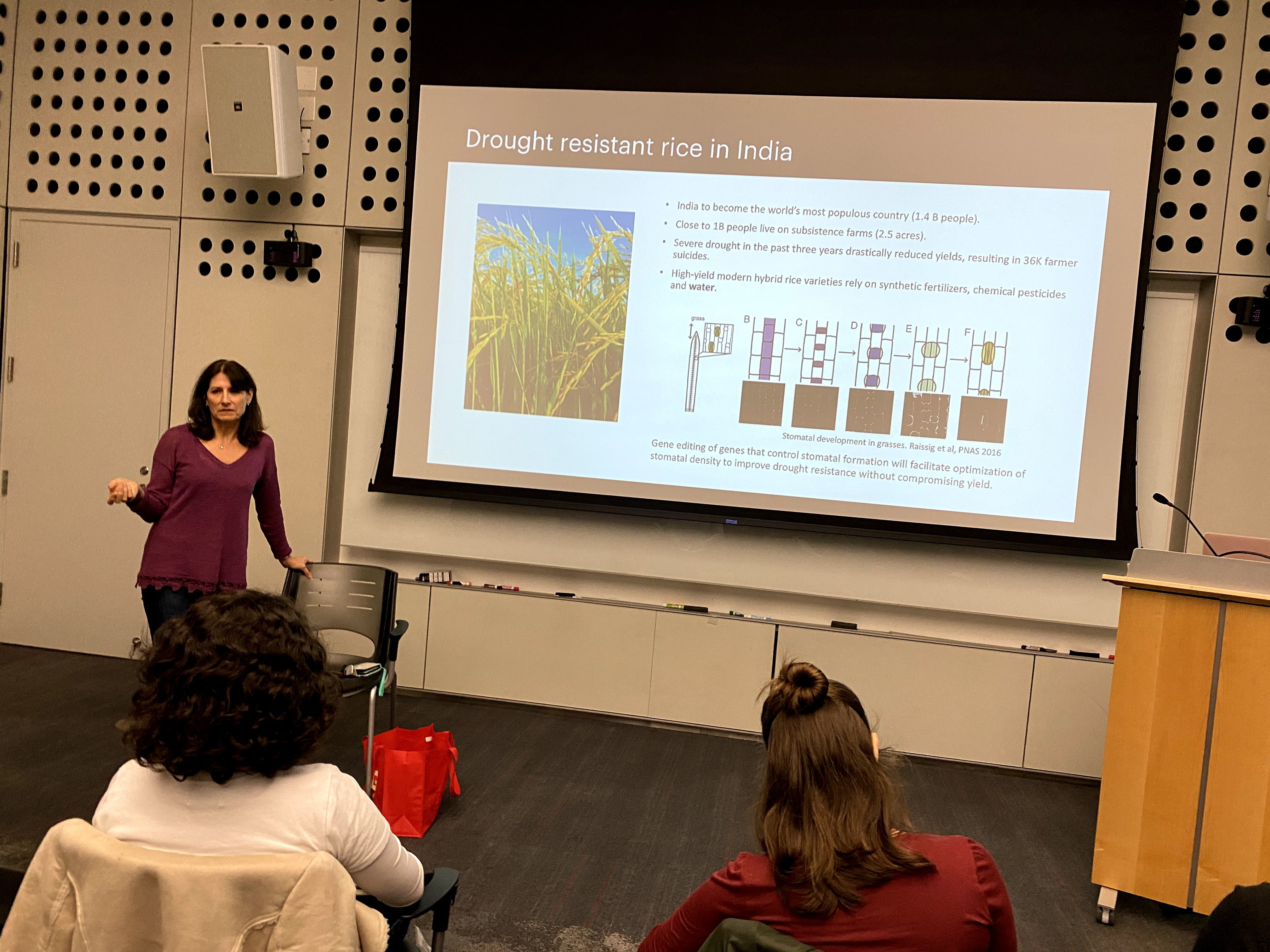 Students had many questions about CRISPR and Susan Jenkins was kind enough to answer all of them before we toured the labs