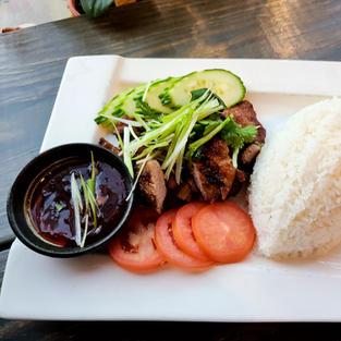 Vietnamese Pork Chop Rice Plate