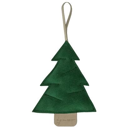 Kerstboompje groen suède